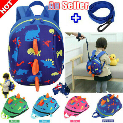 Cute Kid Baby Anti-lost Safety Harness Backpack Leash Child Toddler Dinosaur Bag