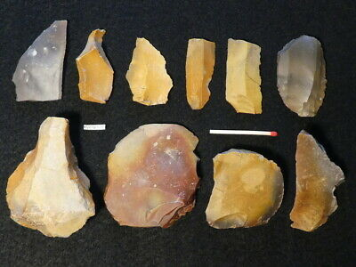 10000Y.o:10 Danish Åmosen Artifacts Stone Age Mesolithic Flint Maglemose Culture