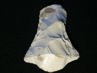 6800Y.O: GREAT FLINT ADZE AX 84mms DANISH STONE AGE MESOLITHIC KITCHEN MIDDEN C