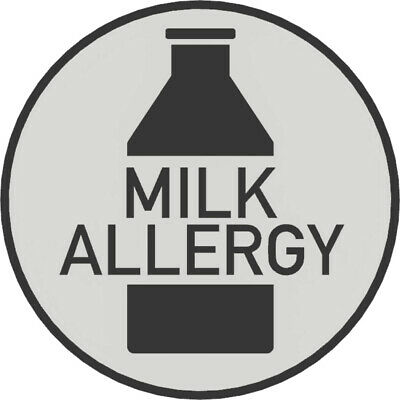 Milk Allergy Badge - Bright, Bold & Designed to Raise Awareness