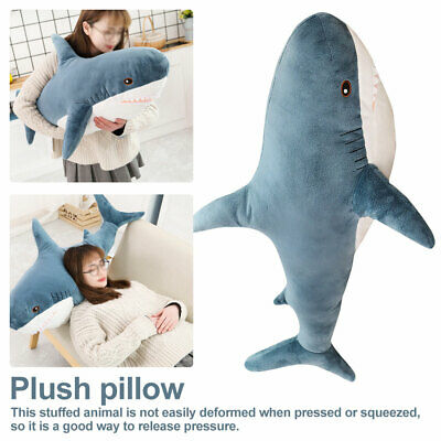Stuffed Cushion Relaxing Cushion Big Shark Stuffed Toy Kids Soft Big Plush Toy
