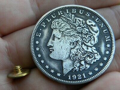 Concho belt leather accessories decoration real silver Morgan one dollar coin