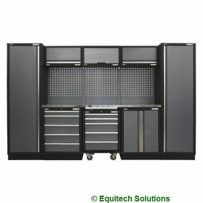 Sealey Tools APMSSTACK03SS Modular Storage System Combo Stainless Steel Worktop