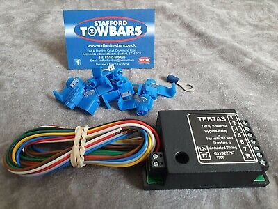 Universal Towbar Towing Smart 7 Way Bypass Relay For Wiring electrics TEB7AS