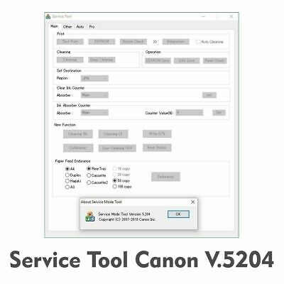 CANON ST V 5204 Service tool 5204 unlimited for 1PC