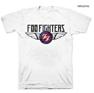 Official T Shirt FOO FIGHTERS White 'Flash Wings' Vintage All Sizes