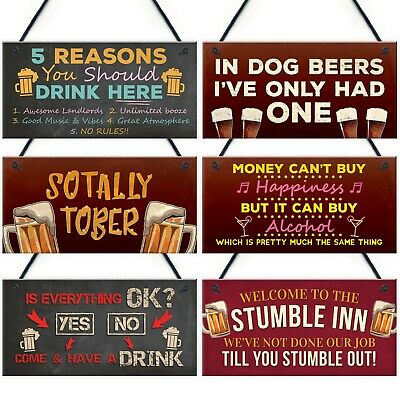 Novelty Man Cave Plaques Bar And Pub Signs Home Bar Decor Funny Alcohol Gifts