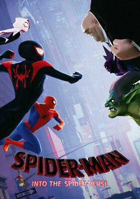 H950 Spider-Man Into The Spider Verse 2018 Marvel Comic Movie Fabric POSTER