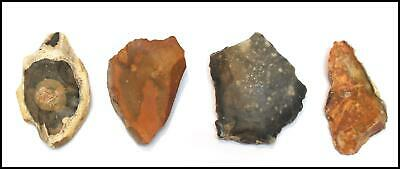 Mousterian paleolithic 4 scrapers axes weapon tools British neanderthal rock art