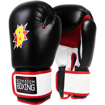 Title Boxing Boom Boom Bomber Training Boxing Gloves - Black/White/Red