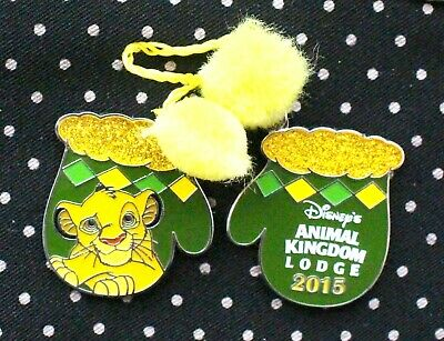 Disney Pin LION KING Animal Lodge Resort Holiday Mittens LE 1200 Limited Edition
