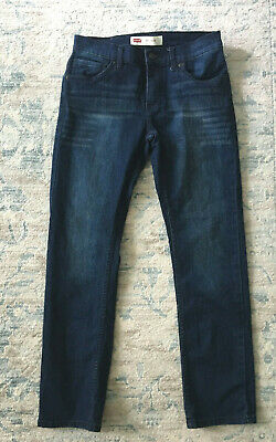 Levi's 511 Slim Fit Dark Wash Whiskered Jeans Boys Size 14 Reg NEW