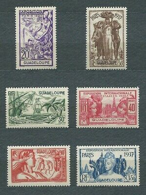 GUADELOUPE - 1937 YT 133 à 138 - TIMBRES NEUFS** MNH LUXE