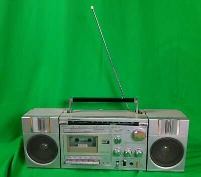 DOPE Emerson MM815 Boombox Portable Stereo Works Ghetto Blaster Radio Cassette