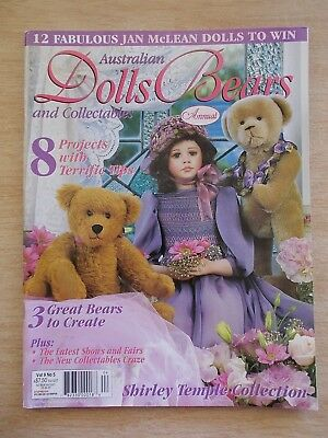 ADB&C Vol 9 #5~Doll & Bear Patterns~Springtime~Abby~Wexford~Toby~Erin~Mini Baby