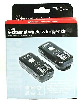 Calumet Pro Series 2.4 GHz 4-Channel Wireless Trigger Kit Canon UK Fast Post