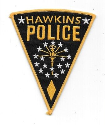 Stranger Things TV Series Hawkins Police Logo Embroidered Patch Style 2 UNUSED
