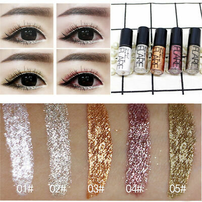 5 Color Waterproof Shimmer Eyeshadow Glitter Liquid Eyeliner Metallic Cosmetics