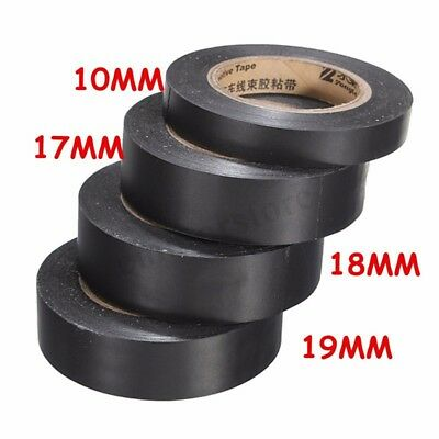 Black Wiring Loom Harness Tape Roll PVC Car Motor 18mx10/17/18/19mm  UK