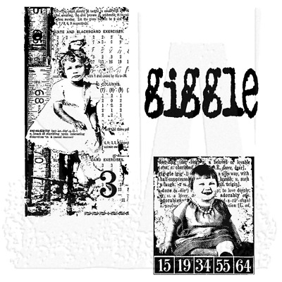 Tim Holtz Stampers Anonymous Cling Rubber Stamp Sets~Photo Collage Altered Art
