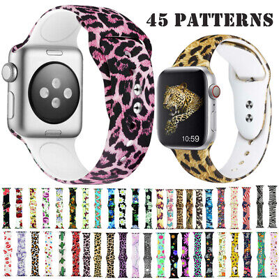 Replacement Sports Silicon Watch Bracelet Strap For Apple Watch Series 4 3 2 1