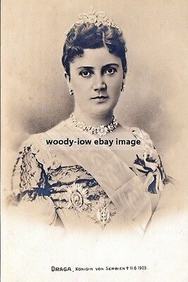 mm947 - Murdered Queen Draga of Serbia - photograph 6x4