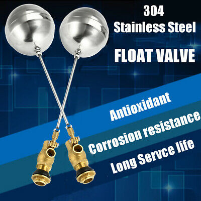 1'' Float Valve - Brass Stainless Steel- Water Trough Automatic Cattle Bowl