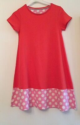 Mini Boden Spotted Red Jersey Dress. Aged 9-10. Immaculate