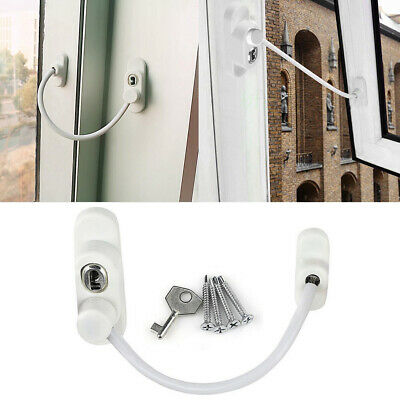 4x Security Window and Door lock Restrictor for Baby and Child Safety Cable