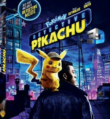 Pokémon (Pokemon) Detective Pikachu 3D Blu-ray Region Free Ships Now