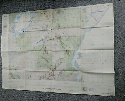 Raf Topographic Navigation Chart Large Foldout Map Lake Victoria Africa
