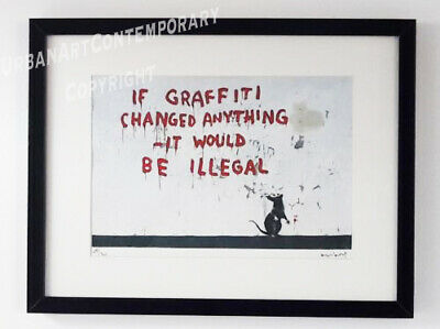 Banksy Lithographie Signed Numbered on 300, Certificat Edition CADRE INCLUS