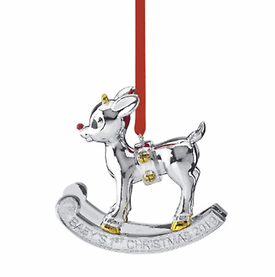 Lenox 2019 Baby's 1st Christmas Rudolph Ornament – Free Shipping
