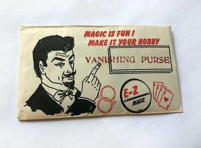 E-Z MAGIC VANISHING PURSE / Vintage Close-Up Magic