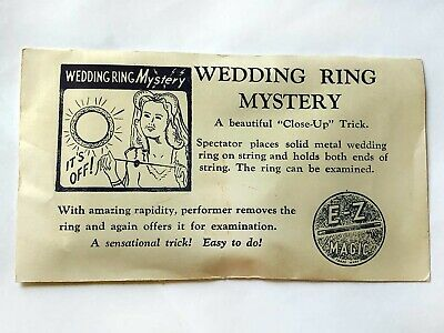 E-Z MAGIC WEDDING RING MYSTERY / Vintage Close-Up Magic Trick