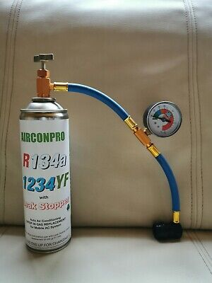 CAR Aircon Refill Regas Air Conditioning  R134A LEAK STOP+hose replacement 500gr
