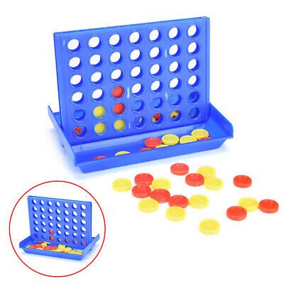Classic Travel Plastic Board Games Connect Four In A Row 4 In A Line Fun Toy