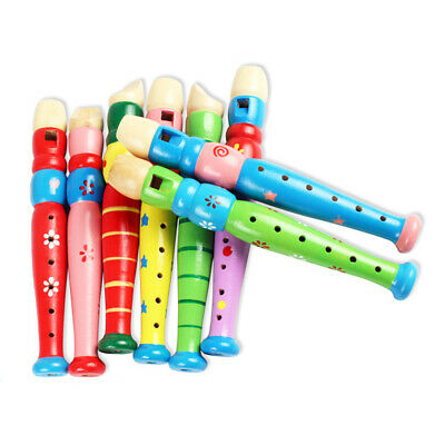 Trumpet Flute Whistle Instruments Music Toys Baby Kids Wooden Horn FI