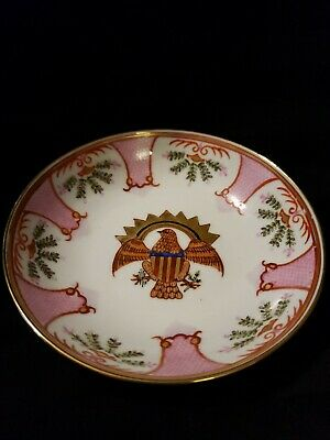 Japanese Imari Dish With American Eagle Pattern