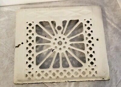 Vintage Jones Atomic Star Sun Burst Cast Metal Vent Register Cover Heat Grate