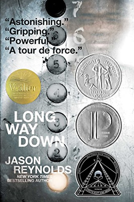 Long Way Down by Jason Reynolds Paperback 2019 Free Shipping US New