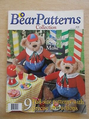 Bear Patterns Collection~9 Full-Size Patterns~Pippy~Darwin~Verity~Waldo~Ellen...
