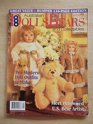ADB&C Vol 6 #6~Doll & Bear Patterns~Little Sailor~Jessie~Doug~Monique~Toby~Bag