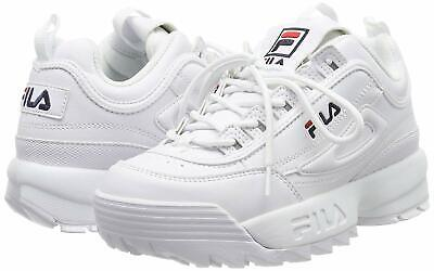Baskets Femmes FILA Disruptor 2 Blanche Classic Chaussures Athletic Running Neuf