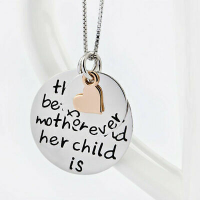 Pendant Necklace Mother & Child Love Forever Gift for Mom Jewelry 925 Sterling