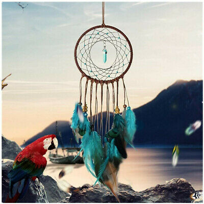 Handmade Dream Catcher w/ Feathers Car or Wall Hanging Decoration Ornament Blue