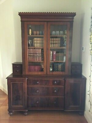 Unusual Antique Victorian Bookcase / Display Cabinet / Sideboard!