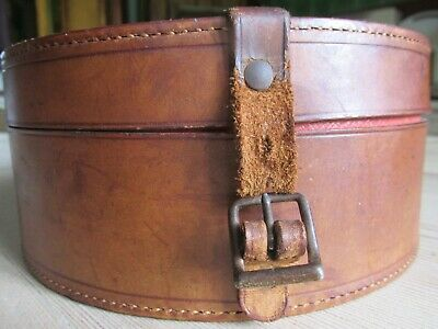 Antique/Old Vintage Leather round Shirt Collar Box