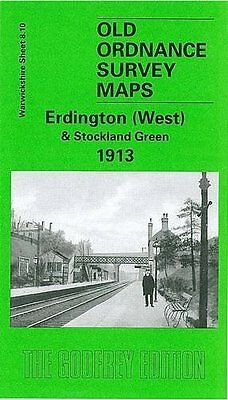 Old Ordnance Survey Map Erdington West & Stockland Green 1913