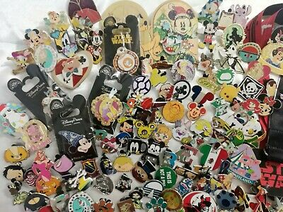 Disney Pin Trading Lot of 130 Assorted Pins LE 3D Hidden Mickey  princess Cast